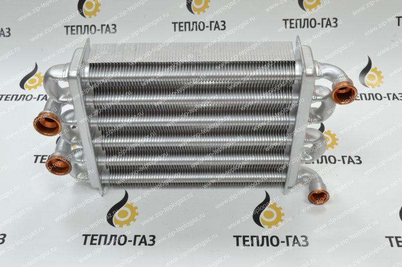 Теплообменник битермический для котла Ariston Egis 24 FF c 2008 года. Артикул – 65106300.