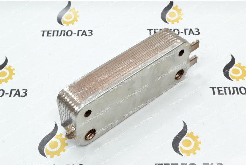 Теплообменник ГВС газовых котлов Bosch WBN 2000-6000, GAZ 4000-7000, Buderus u072 24k. 16 пл. (8718644625)